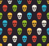 Colorful skull pattern — Stock Vector