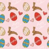 Lindo patrón de Pascua — Vector de stock