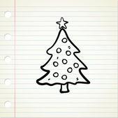 Cartoon kerstboom — Stockvector
