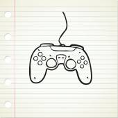 Hand drawn game pad — Stock Vector