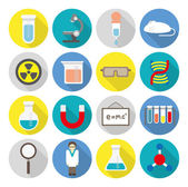Science lab stuff flat icons — Stock Vector
