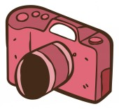 Vintage camera cartoon — Stock Vector