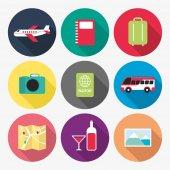 Reisen Verwandte Symbol — Stockvektor