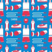 Jogging equipment pattern — Stock Vector