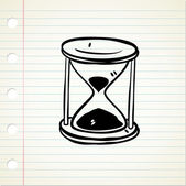 Vintage hour glass — Stock Vector