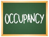 Occupancy word  on chalkboard — Stock Vector