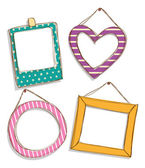 Colorful cute frames — Stock Vector