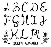 Script alphabet — Stock Vector
