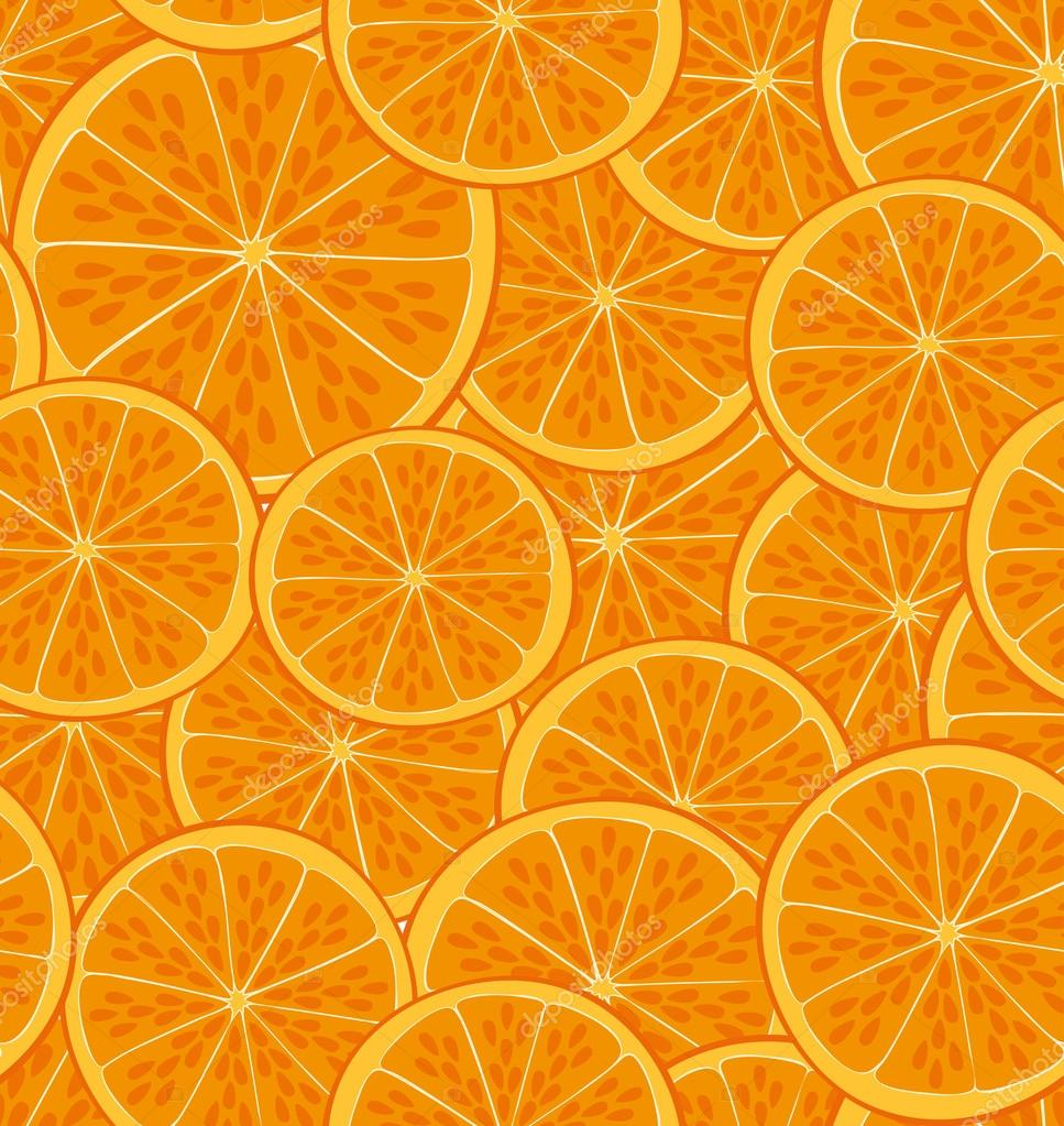 Motif de fruits orange — Image vectorielle mhatzapa ...