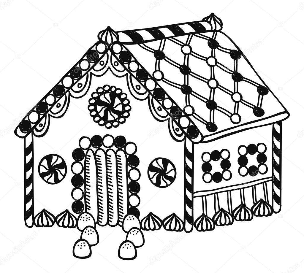 cartoon gingerbread house � stock vector 169 mhatzapa 59809659