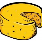 Sketchy cheese  wheel — Stock Vector #59810013