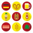 Germany flat icons — Stockvector  #59810075