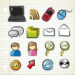 Set of technology icons — Stock Vector #59810587