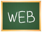 Web  word written on  chalkboard — Διανυσματικό Αρχείο