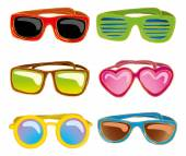 Retro sunglasses in doodle style — Wektor stockowy