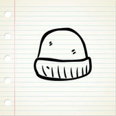 Cartoon winter cap — Vector de stock