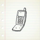 Quirky vintage cellphone — Stock Vector