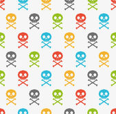 Colorful skull pattern — Stock Vector