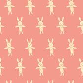 Nice bunnies pattern — Wektor stockowy