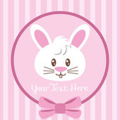 Cute bunny badge — Vettoriale Stock