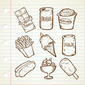 Collection of Snack — Stock Vector