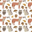 Постер, плакат: Autumn animals background