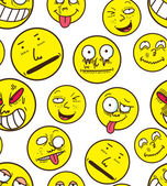 Emoticons, faces background — Stock Vector