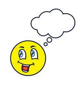 Emoticon with speech bubble — Stock Vector