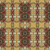 Seamless floral pattern, oil painting — Foto Stock