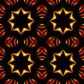 Abstract seamless pattern, fiery stars — Stock Photo