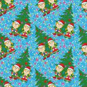 Transparente fondo, bebés y árbol de la navidad — Vector de stock