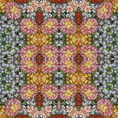 Patrón floral sin fisuras, pintura al óleo — Foto de Stock