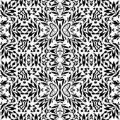 Seamless outline floral pattern — Stock Vector