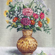 Painting Flowers in a African Vase — Stock Photo #67312875