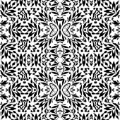 Seamless Outline Floral Pattern — Stock Photo
