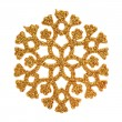 Gold glitter snowflake — Stock Photo #53514629