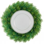 Plate in wreath — Stockfoto