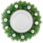 孤立的圣诞花环 — 图库照片