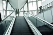 Modern escalator background — Stock Photo