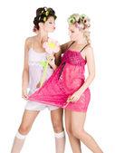 Girl's pyjamas party — Stock Photo
