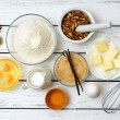 Dough recipe ingredients — Stock Photo #69289483