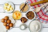 Ingredientes da receita de massa de pão — Fotografia Stock
