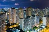 Hong Kong city life at night — Stock Photo