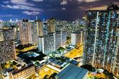 City life in Hong Kong at night — Stock Photo