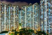 Compact life in Hong Kong at night — Stok fotoğraf