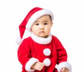 Little girl portrait with christmas dressing — Stock Photo