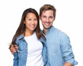 Beautiful affectionate couple smiling — Stock Photo
