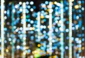 Defocused bokeh of compact city — Stock Photo