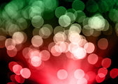 Defocused christmas lights — Stock Photo