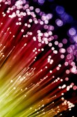 Internet technology optic fiber — Stock Photo